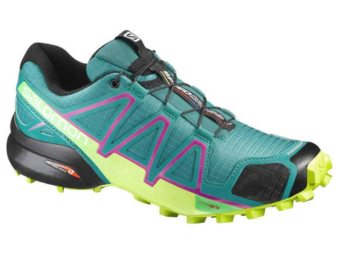 Salomon Women's Speedcross 4 - Deep Peacock/Lime Punch/Grape Juice (L39240200)