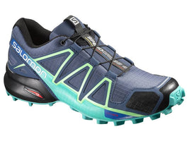 Salomon Women's Speedcross 4 - Slate Blue/Spa Blue/Fresh Green (L38310400)