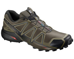 Salomon Men's Speedcross 4 Wide (2E) - Grape Leaf/Burnt Olive/Black (L40738000)