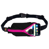 SPIBelt Large Pocket Running Belt - Black/Pink Zip (7BL-A001-007-8.9)