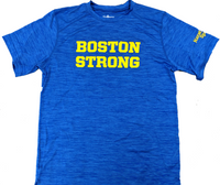 Boston Strong Men's Tech T-Shirt - Royal/Yellow
