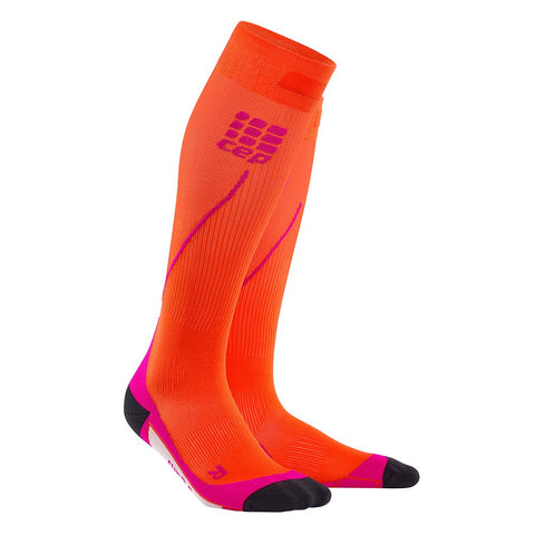 CEP Women's Progressive+ Run Socks 2.0 - Sunset/Pink (WP4523)