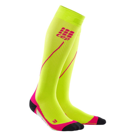 CEP Women's Progressive+ Run Socks 2.0 - Lime/Pink (WP4573)
