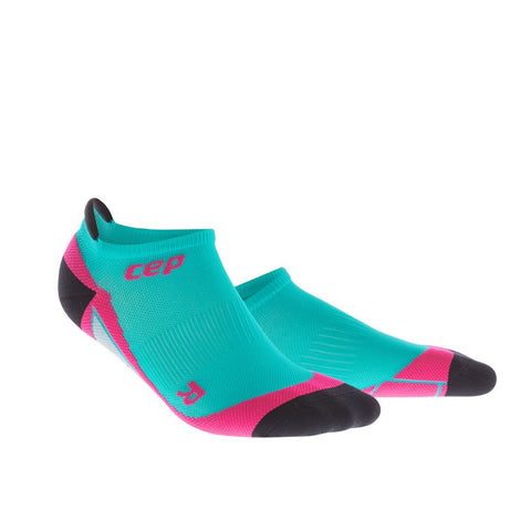 CEP Women's Dynamic No Show Sock - Lagoon/Pink (WP46L0)