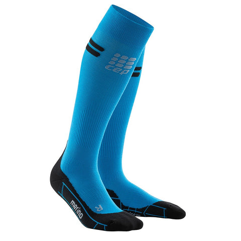CEP Women's Progressive+ Merino Socks - Electric Blue/Black (WP40NA)