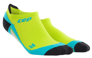 CEP Men's Dynamic No Show Socks - Lime/Hawaii Blue (WP5680)