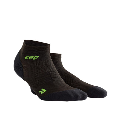 CEP Men's Dynamic+ Ultralight Low-Cut Socks - Black/Green (WP5ALD)