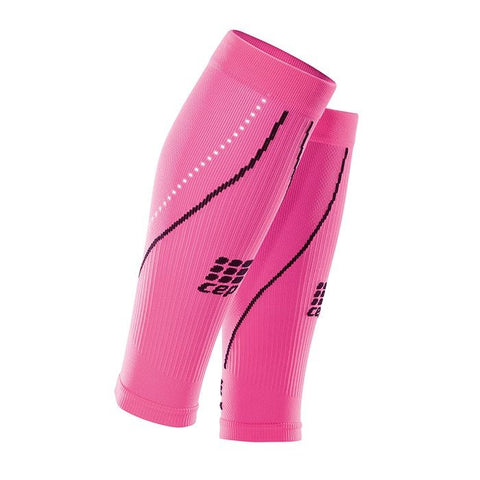 CEP Women's Progressive+ Night Compression Calf Sleeves - Flash Pink/Black (WS4NX0)