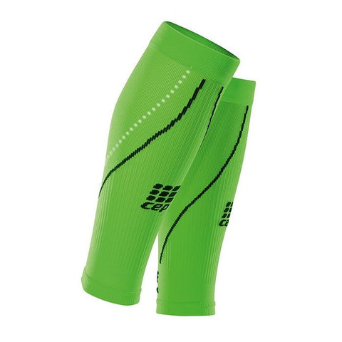 CEP Men's Progressive+ Night Compression Calf Sleeves - Flash Green/Black (WS5NZ0)