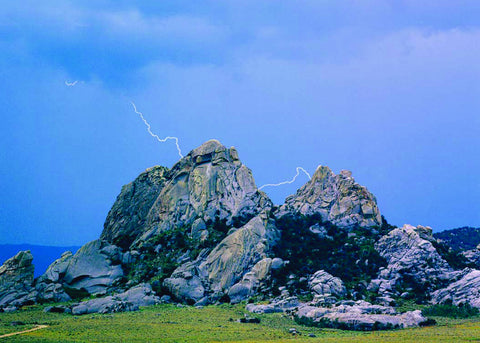 Lightening Strikes in the City of Rocks