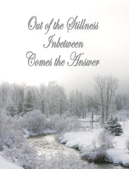 Out of the Stillness Inbetween Comes the Answers #9a