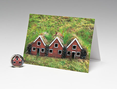 FAIRY HOUSES MAGNET CARD
