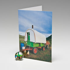 SHEEP WAGON MAGNET CARD