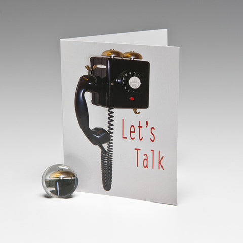 LET'S TALK MAGNET CARD
