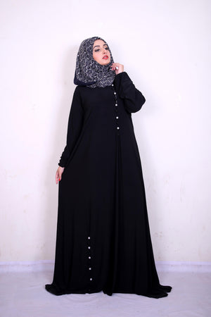 Omera Silk Button Abaya