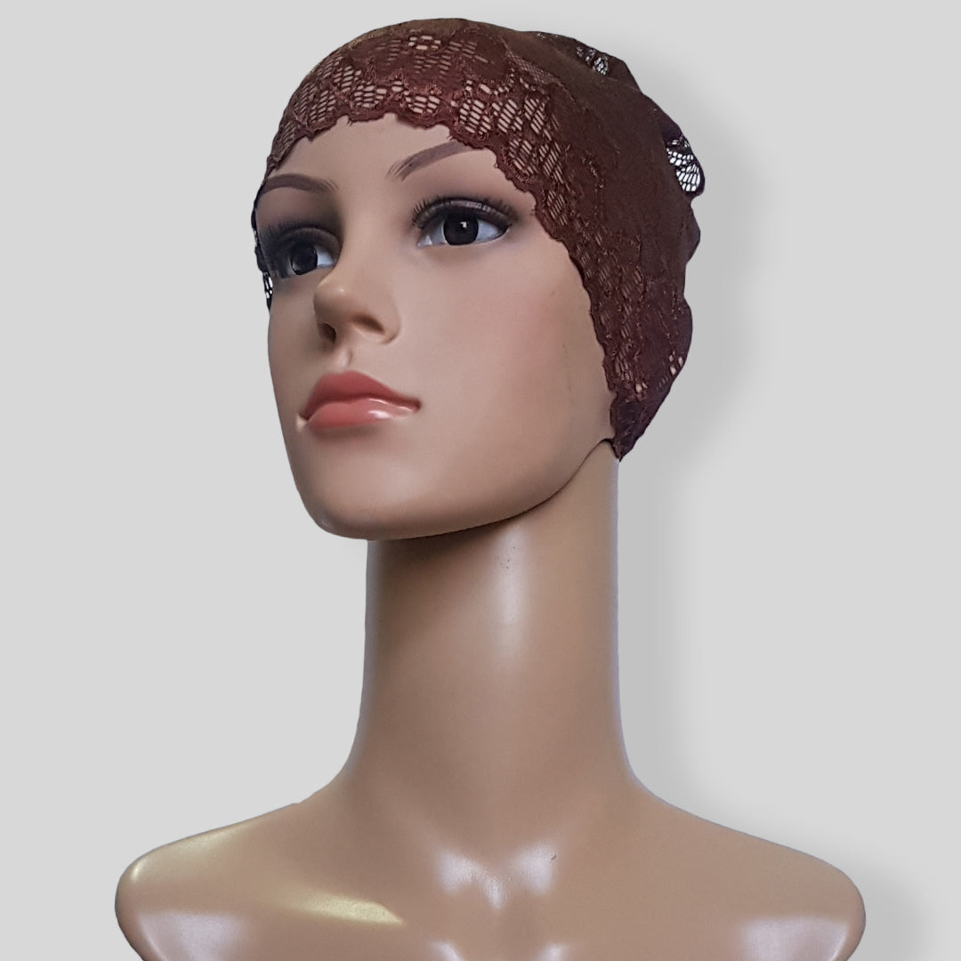 Brown Hijab Cap SHTUBE35