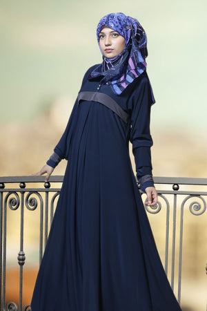 Buy Oolong Front Color Pleated Abaya