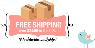 Free Shipping over $34.95 in the U.S. - Worldwide available!