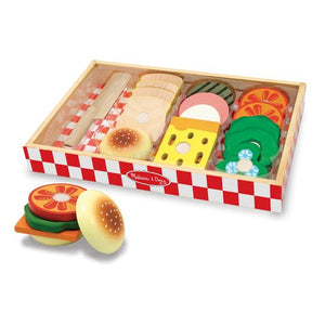 Melissa & Doug Sandwich Making Set Wooden Play Food