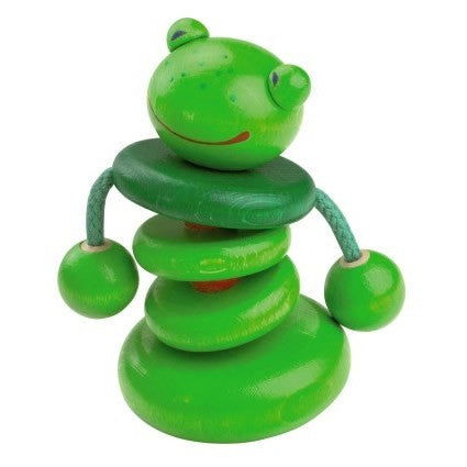 HABA Toys - Clutching Toy Rattle Croo-ak Frog