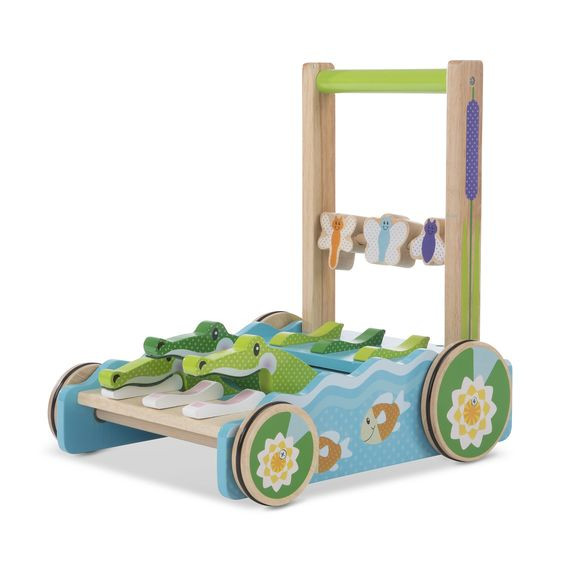 Melissa & Doug - First Play Chomp & Clack Alligator Push Toy