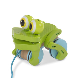 Melissa & Doug - First Play Frolicking Frog Wooden Pull Toy