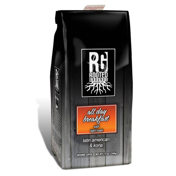Rooted Grounds Coffee Co. 12oz Bag Ground All Day Breakfast