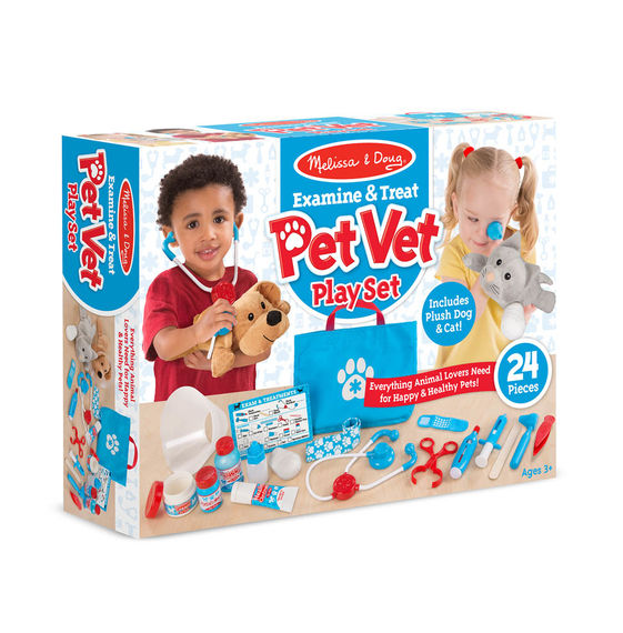 Melissa & Doug - Examine & Treat Pet Vet Play Set