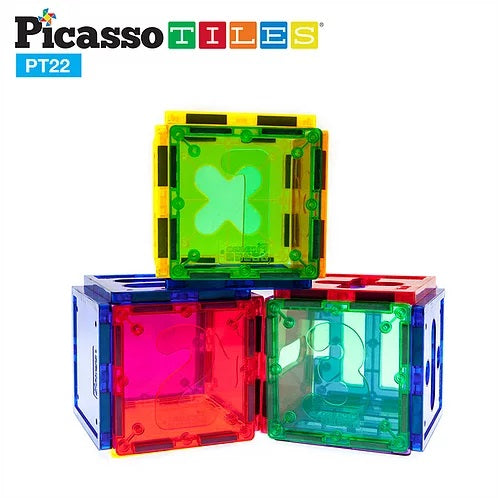 Picasso Tiles 22 piece Magnetic Tiles Numerical Set
