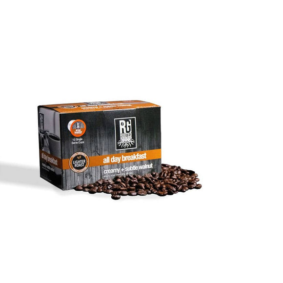 Rooted Grounds Coffee Co. K-Cup 12 pods All Day Breakfast