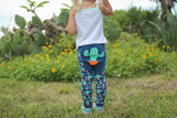 Doodle Pants - Southwestern Prickly Cactus Cotton Leggings
