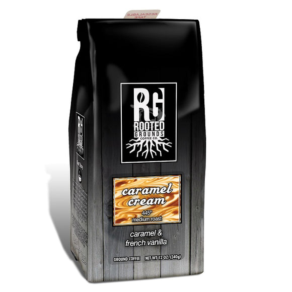 Rooted Grounds Coffee Co. 12oz Bag Ground Caramel Cream