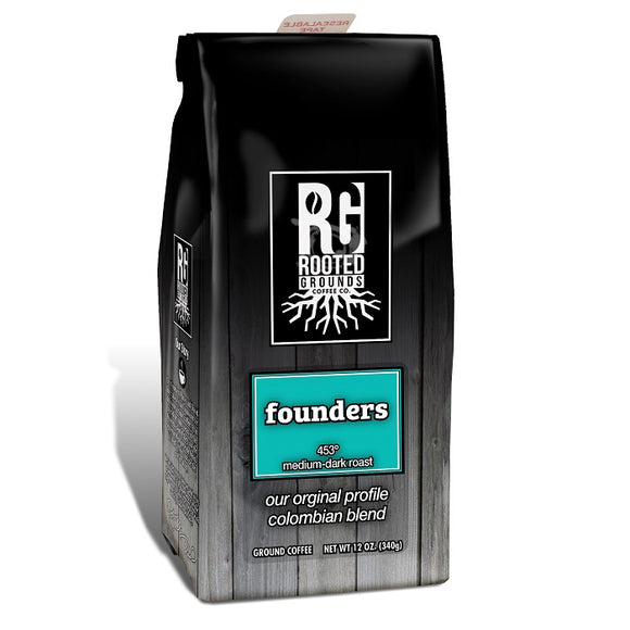 Rooted Grounds Coffee Co. 12oz Bag Ground Founders