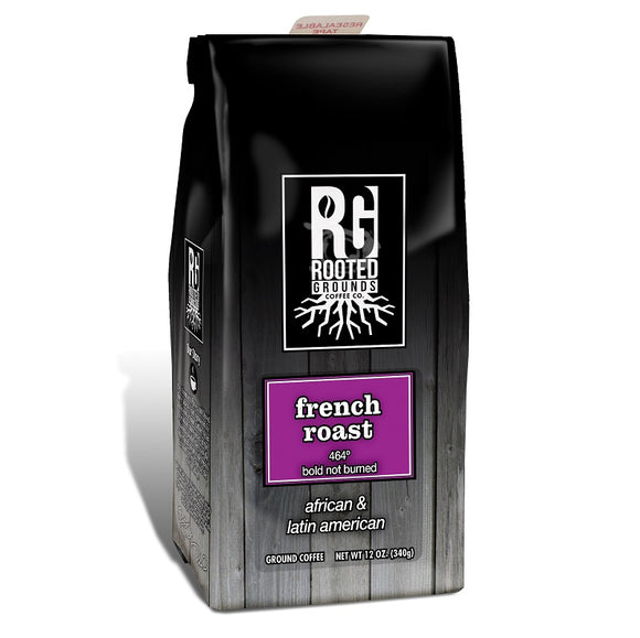 Rooted Grounds Coffee Co. 12oz Bag Ground French Roast