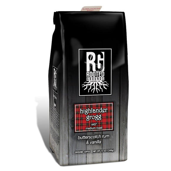 Rooted Grounds Coffee Co. 12oz Bag Ground Highlander Grogg