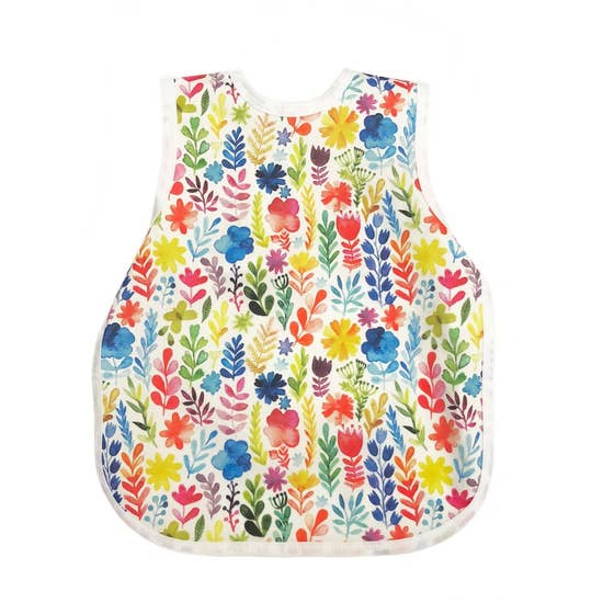 BapronBaby Rainbow Watercolor Floral Toddler Bapron