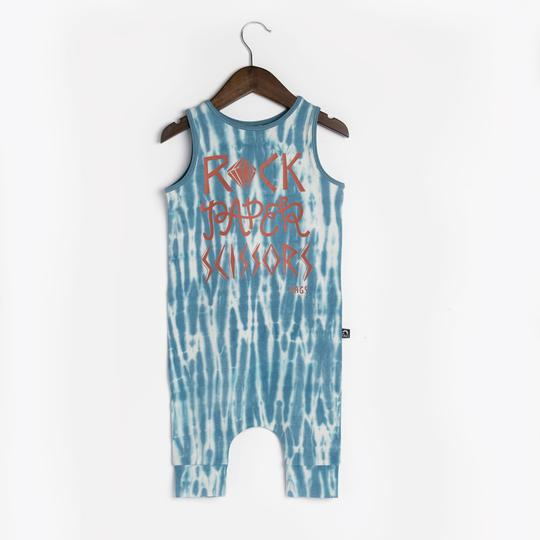 Rags Tank Capri Rag in Glacier Gray/Adriatic Blue Tie Dye 'Rock, Paper, Scissors'