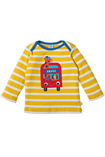 Frugi - Bobby Applique Top Sun Yellow Breton Bus (SS17)