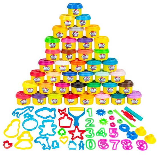 Creative Kids 2 Kiddy Dough 1oz Tubs and 2 Shape Tools
