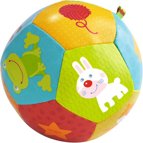 HABA Toys Baby Ball Animal Friends 4.5