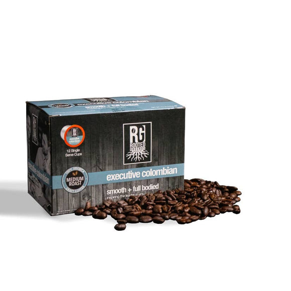 Rooted Grounds Coffee Co. K-Cup 12 pods Executive Colombian