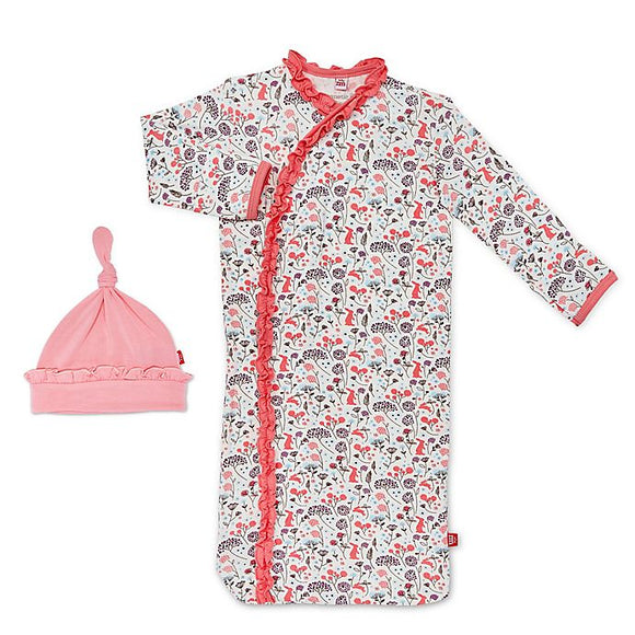 Magnetic Me Beatrix Floral Modal Magnetic Sack Gown & Hat Set (Newborn to 3 months)