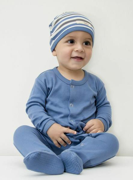 L'ovedbaby Footed Overall - Slate