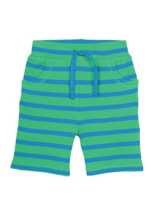 Frugi - Litte Stripy Shorts in Field/Diver Blue (SS16)