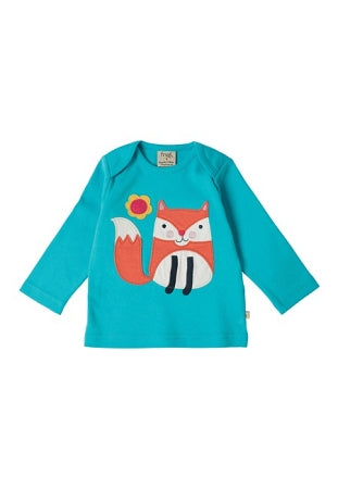 Frugi - Bobby Applique Top in Cornish Sea/ Fox (AW16)