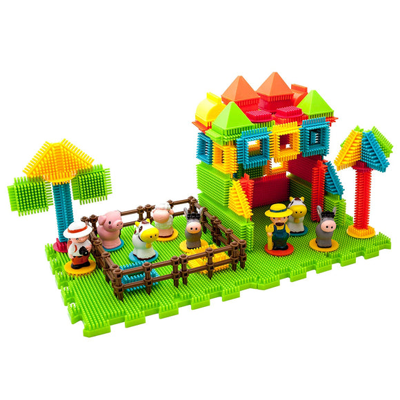 Picasso Tiles 100 Piece Farm Theme Building Set
