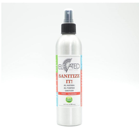 Elevated Sanitize It! Natural Household Fam Sanitizer 9oz