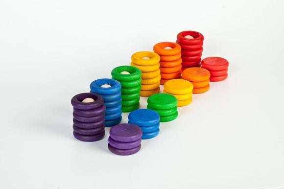 Grapat Nins Rings & Coins Rainbow Stack and Sort Game