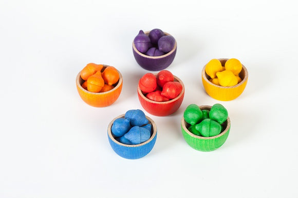 Grapat Bowls and Acorns Rainbow Sorting Game