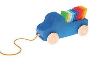 Grimm's Blue Truck Pull Toy